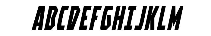 Battleworld Expanded Italic Font UPPERCASE