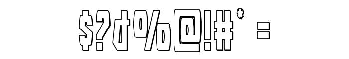 Battleworld Outline Font OTHER CHARS