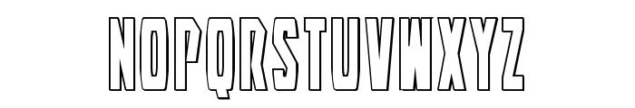Battleworld Outline Font UPPERCASE
