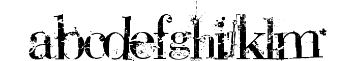 Bauer PlAGuE dEaTH Font LOWERCASE