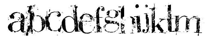 BauerBear Attack Font UPPERCASE