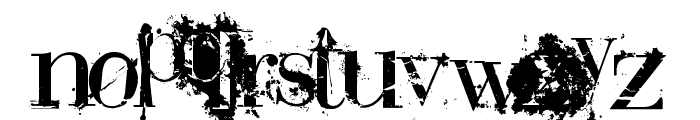 BauerBear Attack Font LOWERCASE
