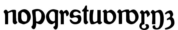 Bauernschrift Font LOWERCASE