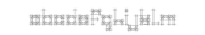 Bauhaus Sketch Font LOWERCASE