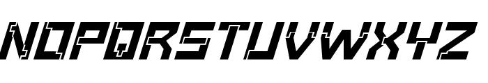 Baumarkt BoldItalic Font UPPERCASE