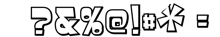 Baveuse 3D Font OTHER CHARS