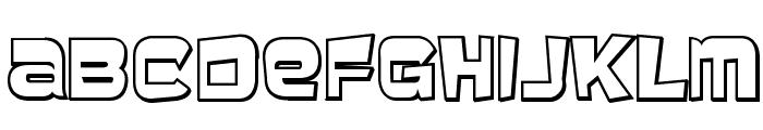 Baveuse 3D Font UPPERCASE