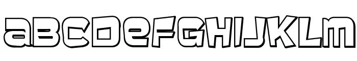 Baveuse 3D Font LOWERCASE
