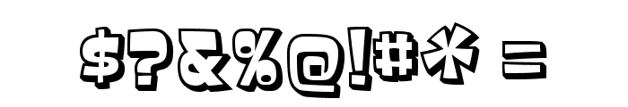 Baveuse3D-Regular Font OTHER CHARS