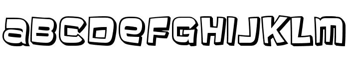 Baveuse3D-Regular Font LOWERCASE