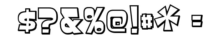 BaveuseThreeD-Regular Font OTHER CHARS