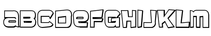 BaveuseThreeD-Regular Font UPPERCASE