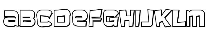 BaveuseThreeD-Regular Font LOWERCASE