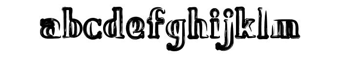 Bavure-Regular Font LOWERCASE