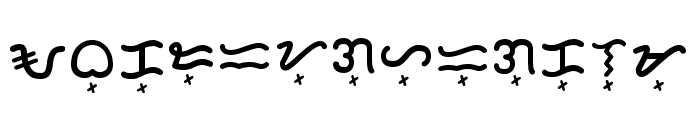 Baybayin Rounded Regular Font UPPERCASE