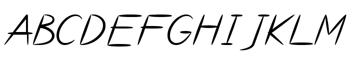 Bayou Font UPPERCASE