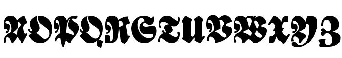 Bayreuth Font UPPERCASE