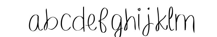 barefootbluejeannight Font LOWERCASE