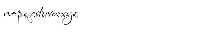 Babylonica Regular Font LOWERCASE