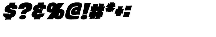 Back Beat Heavy Italic Intl Font OTHER CHARS