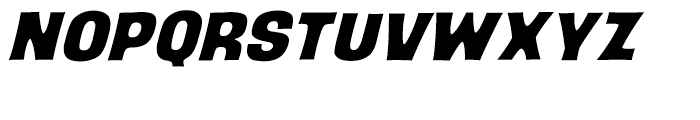 Back Beat Italic Intl Font UPPERCASE
