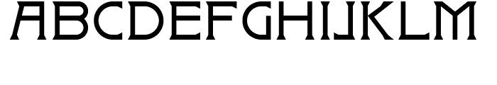 Badehaus Regular Font UPPERCASE