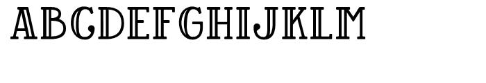 Baker Street Inline Font UPPERCASE