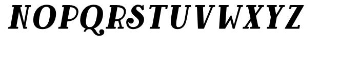 Baker Street Oblique Font UPPERCASE