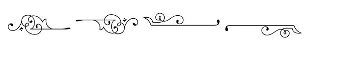 Baker Street Symbols Flourish Font UPPERCASE