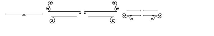 Baker Street Symbols Flourish Font LOWERCASE