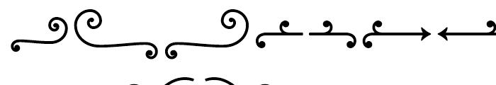 Baker Street Symbols Swash Font UPPERCASE