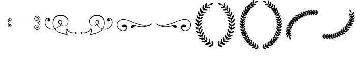 Baker Street Symbols Swash Font LOWERCASE