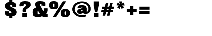 Balboa Extra Black Font OTHER CHARS