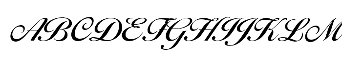 Balladeer Medium Font UPPERCASE