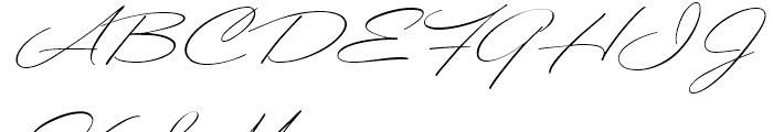 Ballerina Regular Font UPPERCASE
