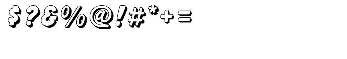Balloon Drop Shadow Standard d Font OTHER CHARS