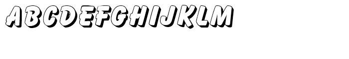 Balloon Drop Shadow Standard d Font UPPERCASE