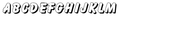 Balloon Drop Shadow Standard d Font LOWERCASE