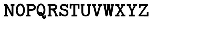 Baltimore Typewriter Bold Regular Font UPPERCASE