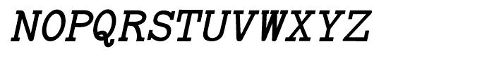 Baltimore Typewriter Italic Regular Font UPPERCASE