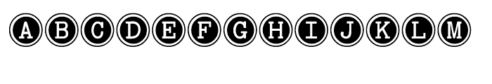 Baltimore Typewriter Keys Regular Font UPPERCASE