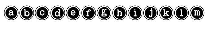 Baltimore Typewriter Keys Regular Font LOWERCASE