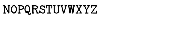 Baltimore Typewriter Small Caps Regular Font UPPERCASE