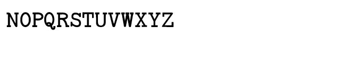 Baltimore Typewriter Small Caps Regular Font LOWERCASE
