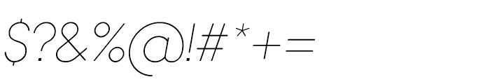 Bambino Thin Italic Font OTHER CHARS