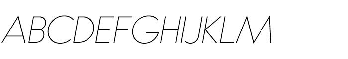 Bambino Thin Italic Font UPPERCASE