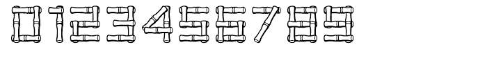 Bamboo Regular Font OTHER CHARS