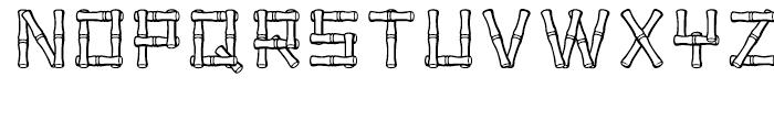 Bamboo Regular Font UPPERCASE