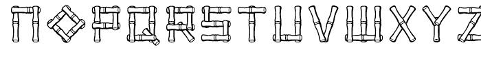 Bamboo Regular Font LOWERCASE