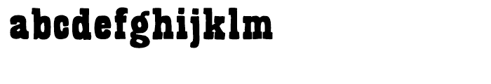 Bandoliers Beefy Font LOWERCASE